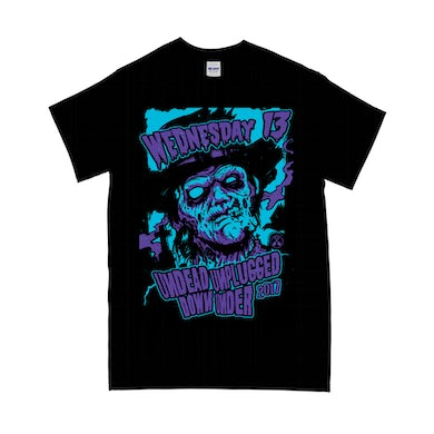 """Wednesday 13 """"Undead Unplugged"""" T-Shirt"""