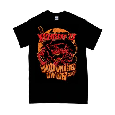"""Wednesday 13 """"Undead Unplugged 2"""" T-Shirt"""