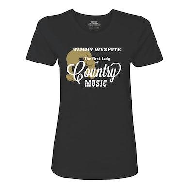 "Tammy Wynette TammyWynette""First Lady"" T-Shirt (Black)"