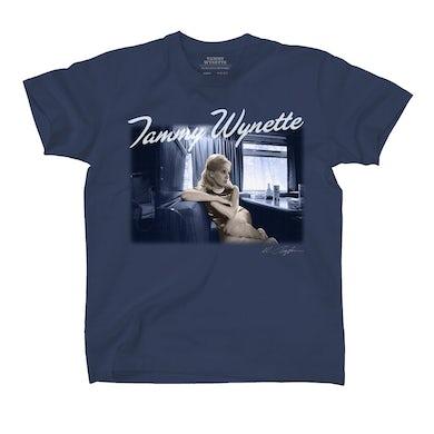 Tammy Wynette TammyWynetteTour Bus T-Shirt (Steel Blue)