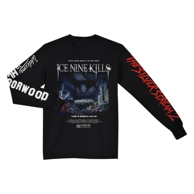 "ICE NINE KILLS ""The Silver Scream 2: Welcome to Horrorwood"" Black Long Sleeve T-Shirt"