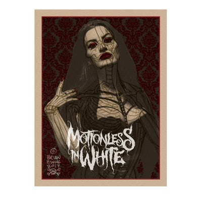 Motionless In White Lady Screenprinted Poster