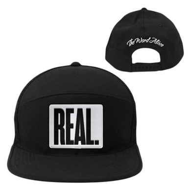REAL. Black Snapback