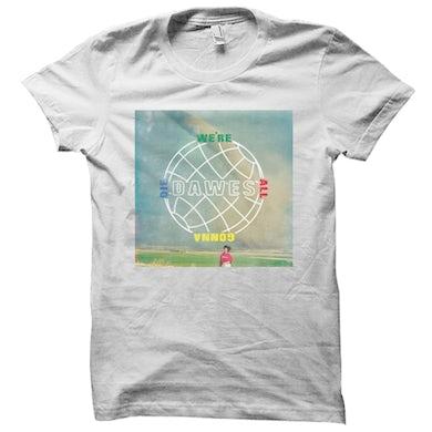 Dawes - We're All Gonna Die Album Art Faded White T Shirt