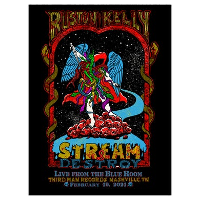 Ruston Kelly - Stream and Destroy Feb 19. 2021 Livestream Poster