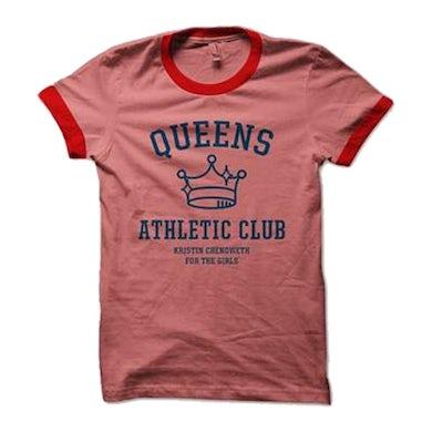 Kristin Chenoweth Queens Athletic Club Unisex Ringer Tee