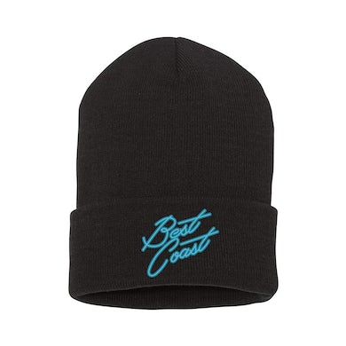 Embroidered Logo Black Knit Cap