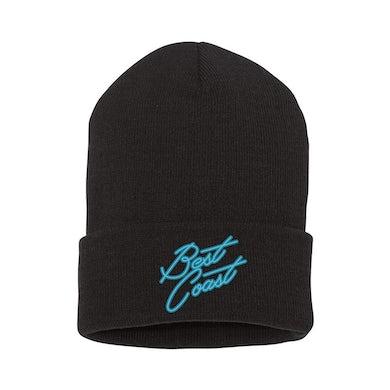Best Coast - Embroidered Logo Black Knit Cap
