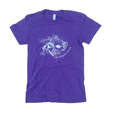 Ladies Purple Animal Tee