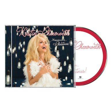 """Kristin Chenoweth """"HAPPINESS is...Christmas!"""" CD w/ Signed 5""""x5"""" Collectors Album Print"""