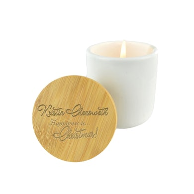 """Kristin Chenoweth """"HAPPINESS is...Christmas!"""" Matara Spice Soy Candle"""