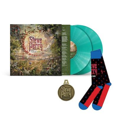 Steve Perry  Traces Deluxe Green 2XLP Bundle