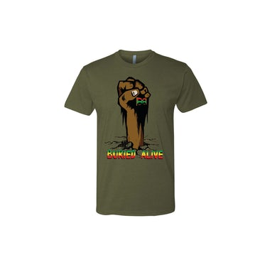 Buju Banton Green Buried Alive T-Shirt