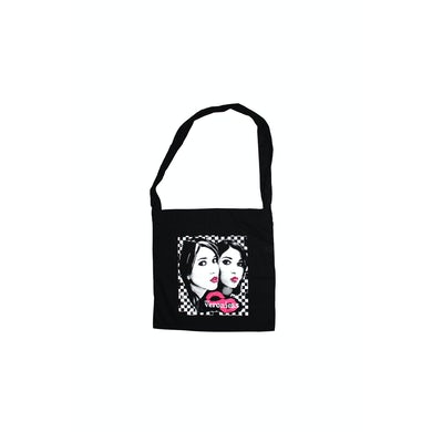 The Veronicas Black Tote Pink Lips