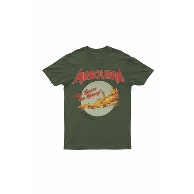 Airbourne No Guts No Glory Green Tshirt