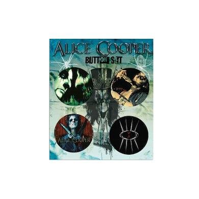 "Alice Cooper Four 1.5 "" Button Set"