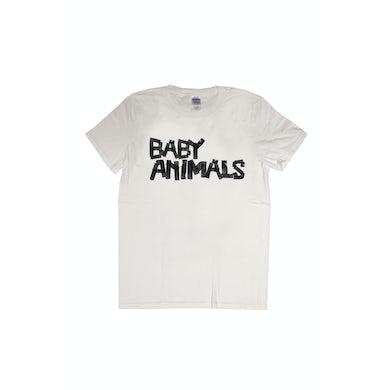 Baby Animals Tape Logo White Tshirt