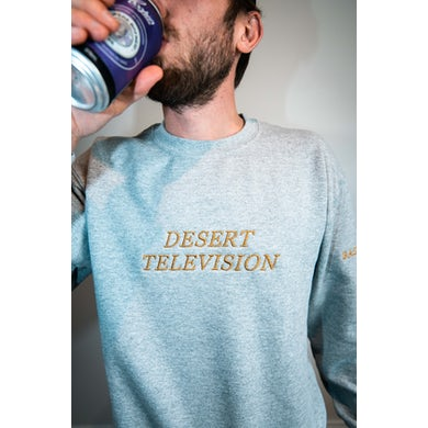 Bad Dreems Desert Television Grey Sweater with Gold Embroidery
