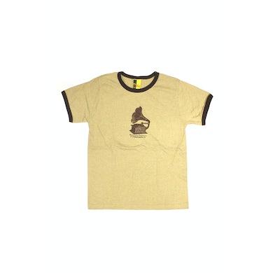 Bernard Fanning Gramaphone Light Brown Mens Tshirt