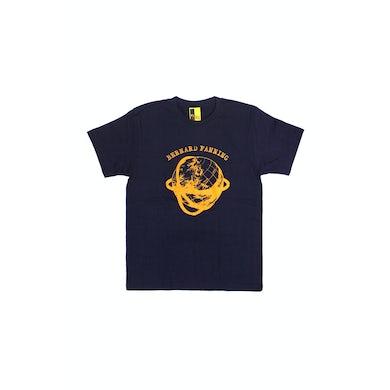 Bernard Fanning Globe Navy Mens Tshirt