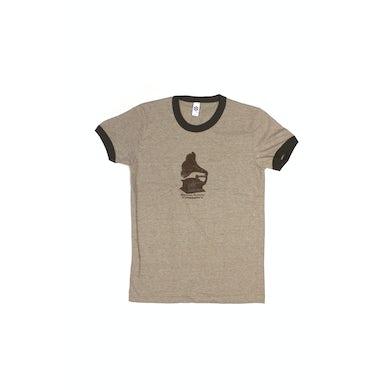 Bernard Fanning Gramaphone Brown Mens Ringer Tshirt