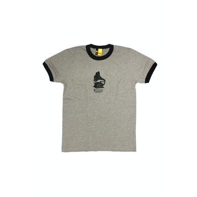 Bernard Fanning Gramaphone Grey Mens Ringer Tshirt