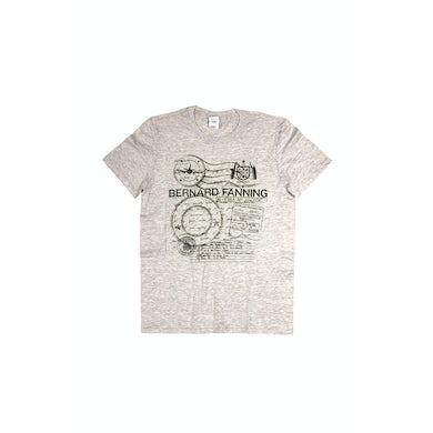 Bernard Fanning Passport Grey Mens Tshirt