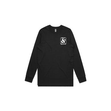 Boy & Bear Ampersand Black Lonsgleeve Tshirt