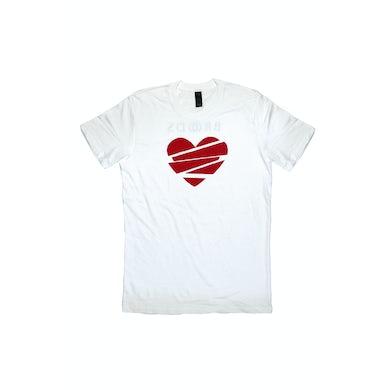 Broods Heart Lines White Tshirt