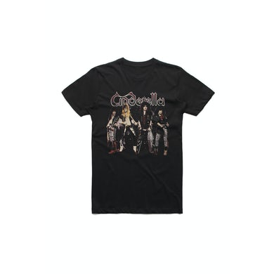 Cinderella Band Stands Black Tshirt