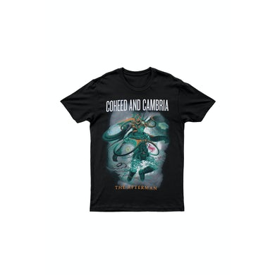 Coheed and Cambria Afterman Black Tshirt Australian Tour 2013