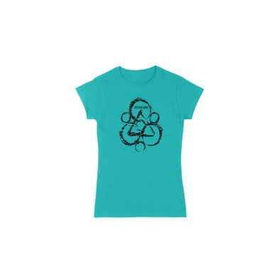 Coheed and Cambria Keywork Girls Blue Tshirt