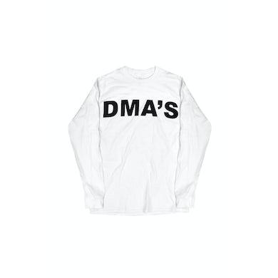DMA'S White Long Sleeve Shirt Album Font