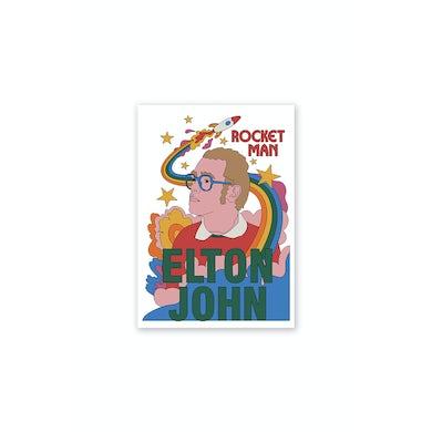 Elton John Rocketman Cartoon Poster A2