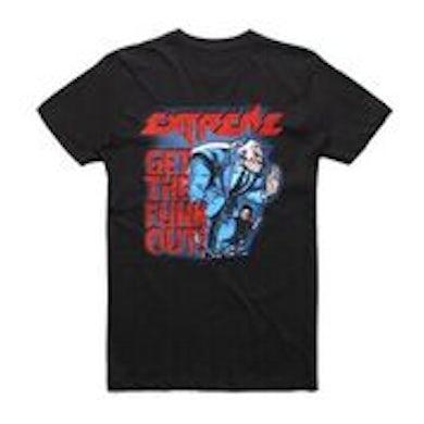 Extreme GTFO Black Tshirt w/dateback