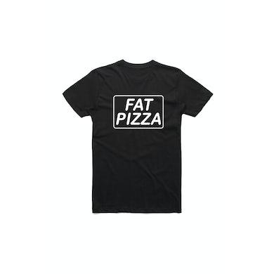 Fat Pizza Logo Black Tshirt
