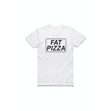 Fat Pizza Logo White Tshirt