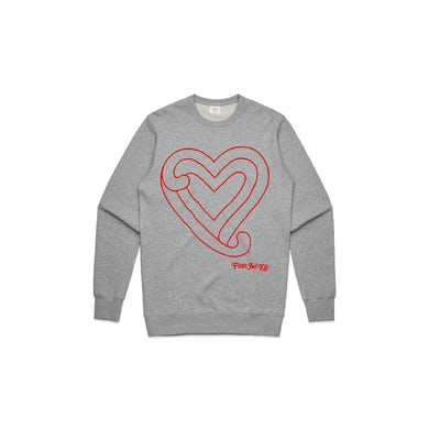 First Aid Kit Grey Heart Sweater