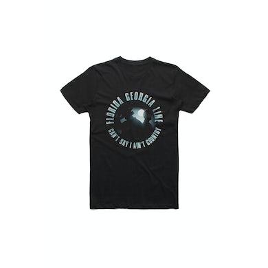 Florida Georgia Line Circle Logo Australian Tour Black Tshirt w/dateback
