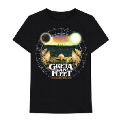 Greta Van Fleet Astronomical Chart Black Tshirt