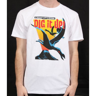 Hoodoo Gurus Dig It Up White Event Tshirt 2012