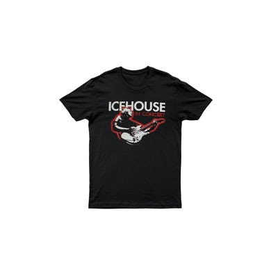 Icehouse Red Guitar Black Tshirt