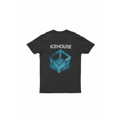 Icehouse Platinum Tour Black Tshirt (Cube) With dates