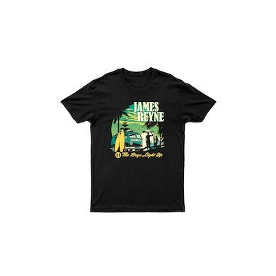 James Reyne Boys Light Up Black Tour Tshirt w/dateback