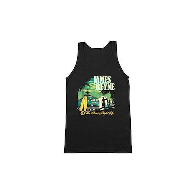 James Reyne Boys Light Up Black Singlet