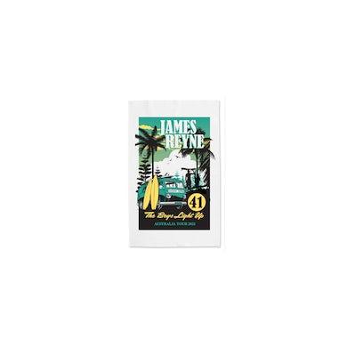 James Reyne Boys Light Up Tour Tea Towel 2021