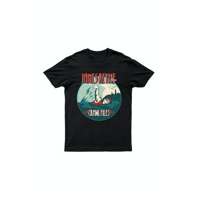 James Reyne Swimmer Black Tshirt  with tour dates