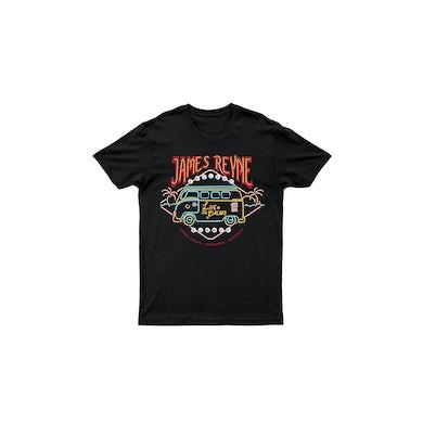 James Reyne Neon Lights Black Tshirt