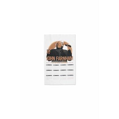 John Farnham Tea Towel Australian Tour 2014