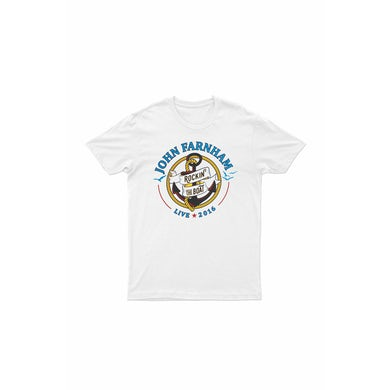 John Farnham Rocking The Boat 2016 White Tshirt